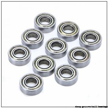 2,5 mm x 8 mm x 2,5 mm  ISB MF82XZZ deep groove ball bearings